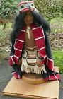 Lg Duane Pasco Carved Cedar Marionette Native Eagle Dancer Puppet 28 x 12