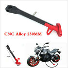 1Pcs 250mm Black/Red CNC Aluminum Motorcycle Scooter Side Stand Leg Kickstand