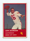 Len Dawson Cards, Rookie Card and Autographed Memorabilia Guide 18