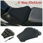 32X32cm Motorcycle Scooter Seat Cushion Inflatable Air Pad With Pump Accessories