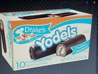 Box of 10 Drake's YODELS Vanilla Creme Filled Devils Food Cakes Chocolate Drakes
