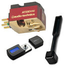 Audio Technica AT33EV Cartridge with Knox Gear Stylus Scale and Brush Bundle