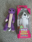 Pez Fuzzy Friends NEW Barney Beagle in box EUC Gilbert Bear flocked candy holder