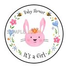 30 ITS A GIRL BABY SHOWER Stickers Favors Labels round 15 ENVELOPE SEALS