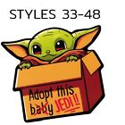 Baby Yoda Stickers The Mandalorian Stickers CHOOSE 1 GET 1 FREE Styles 33 48