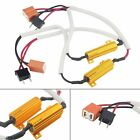 2Pcs H7 499 LED Fog Light HeadLight Canbus No Error Load Resistor Wiring Harness