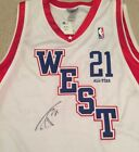 Tim Duncan signed Jersey All Star Game Authentic San Antonio Spurs Beckett COA!