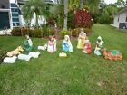 Lighted Blow Mold Yard NATIVITY SCENE SET P U in SW Florida