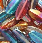 Mixed Color Very Large AB Luster Oval Glass Beads