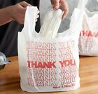 Thank You To Go Bags 22 X 12 X 6 12 White Plastic Shopping Bags 16 Bags