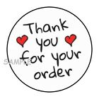 30 THANK YOU FOR YOUR ORDER ENVELOPE SEALS LABELS STICKERS 15 ROUND HEARTS