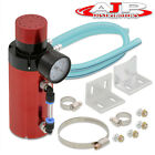 For Mitsubishi Turbocharger Supercharger Engine Oil Catch Can Reservoir Tank Red