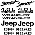 For Jeep Wrangler Sport Vinyl Stickers Decals set 10Pcs NO BACKGROUND YJ TJ