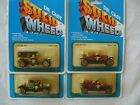 VINTAGE Solid Wheels Diecast LOT OF 4 ANTIQUE CARS  1 60 SCALE
