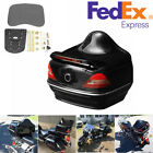 Motorcycle Trunk Box with Taillight Turn Signals For Harley Honda Yamaha Suzuki