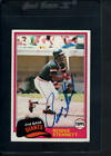 1981 Topps Baseball Autograph Cards #301-726 - YOU PICK