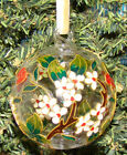 Cloisonne CHERRY BLOSSOM Glass Ornament 1303C Enameled Hand painted