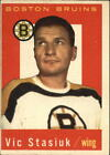 1959-60 Topps Card #14 Vic Stasiuk Boston Bruins A11811 - EX