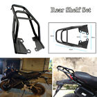 Black Motorcycle Rear Shelf Refitted Box Tail Fin Luggage Rack Strong Structure