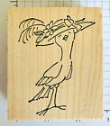 Birdie in a Fancy Hat by Art Impressions Wood Mounted Rubber Stamp 25 x 288