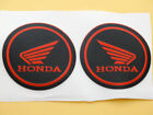 Fuel Tank Fairing Sticker Decal Emblems for Honda Wing 55mm 3D Red Rubber Racing