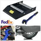 Motorcycle Tyre Chain Stand Rollers Ramp Lift Stand Wheel Cleaning Stand+Brush