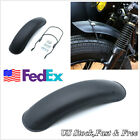 1pcs Black Metal Front Fender Protector Mudguard For 16/17/18'' Motorcycle Wh