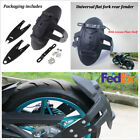 Motorcycle Rear Wheel Cover Rear Fender Splash Mud Guard w/License Plate Bracket