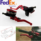 Pair Red CNC Aluminum Motorcycle Hydraulic Brake Master Cylinder