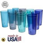 32 Oz Plastic Tumblers Reusable Cups Restaurant Drinking Cup Set Glasses Of 12