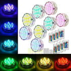 8Piece Waterproof Underwater Led Lights with remote for Swimming Pool Hot tube A