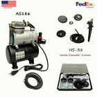 08mm Airbrush Kit with Mini Compressor Gravity Siphon Feed for Crafts Hobby Art