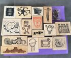 Southwest Native Wood Mounted Rubber Stamps Lot Of 16 Animal Spirit Face Mask