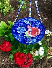 Bird Feeder Outdoor Garden Blue Red Flowers Great Gifts for Mom Mothers Day