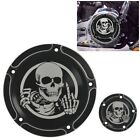 CNC Cut Middle Finger Derby Timer Engine Cover For Harley Softail Fatboy FLSTF