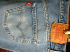 36x32 FIT Vtg 90s Levis 501 PERFECT NATURAL FADE Buttonfly Raw Denim Jeans
