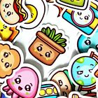 54 Adorable Kawaii Stickers Journal Diary Stickers Scrapbooking Stickers USA