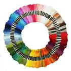 100pcs Multi Colors 8M Cross Stitch Cotton Embroidery Thread Floss Sewing Skeins