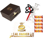 Original Al Fakher Glass Hookah Extra Bowl + Leather Case + 50 lite Coal
