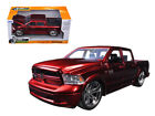 2014 RAM 1500 Pickup Custom Edition Red Just Trucks 1 24 Diecast by Jada 54040