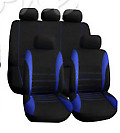 9x Full Set Universal Auto Seat Covers Protector For Car Truck Suv Van Blackred