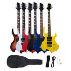 New Colorful Righ Handed 6 Strings Electric Guitar W Case  Accessories