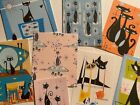 Retro Vintage Style Mid Century Atomic Cats Gift Tags die Cuts 16pc Cardmaking