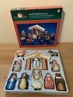 Kurt S Adler Childs First Nativity Set 10 Wooden Figures w Stable Storage Box