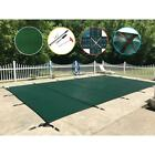 WaterWarden Safety Pool Cover 18 ft x 36 ft Rectangle Green Mesh In Ground