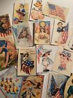 Die Cuts Gift Tags Fourth Of July Vintage Style Card making Journal Supply 16 pc