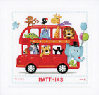 Funny Bus Birth Sampler Vervaco Counted Cross Stitch Kit PN 0147691