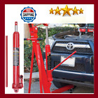 Hydraulic Long Ram Jack with Single Piston Pump and Clevis Base Garage 3 Ton Red