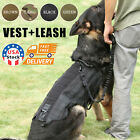 Tactical Dog Hunting Training K9 Police Dogs Vest Harness +Leash US