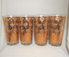 Georges Briard Mid Century Heavy Gold Tumblers Highball Cocktail Glasses Set 4